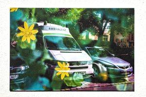 """Kunstdruck auf AluDibond """"FlowerPowerAmbivalenz"""""""